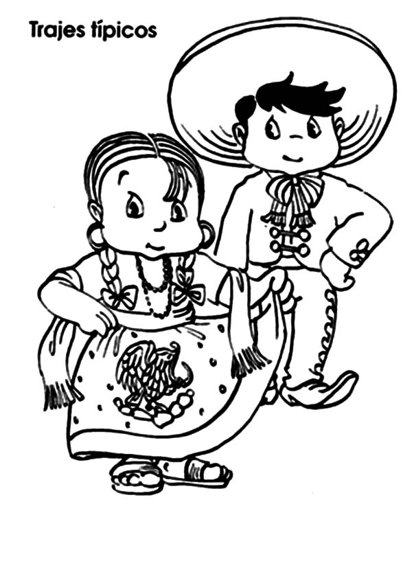 How to Draw Mexican Dress Coloring Pages: How to Draw