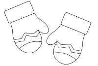 Free coloring pages of winter mittens