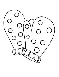 Mitten Coloring Pages Printable - Bltidm