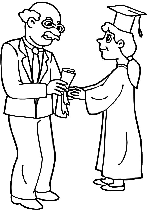 Graduation Day Printable Coloring Pages Coloring Pages