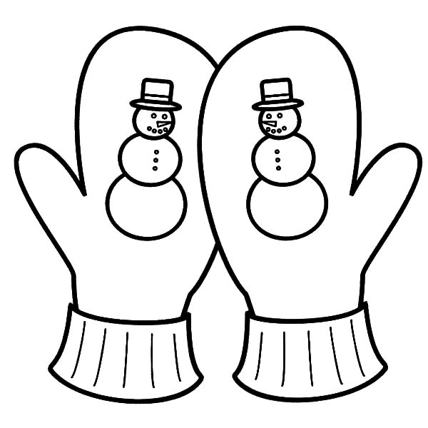 Mittens Winter Season Coloring Pages: Mittens Winter