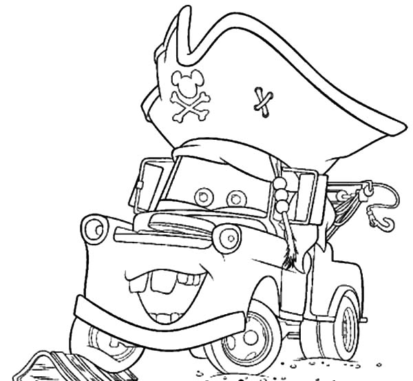 Drawing Tow Mater Coloring Pages: Drawing Tow Mater