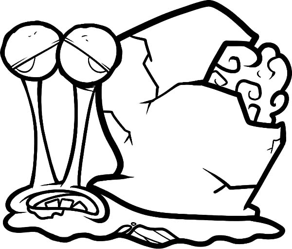 Gary Page 2: Zombie Gary the Snail Coloring Pages