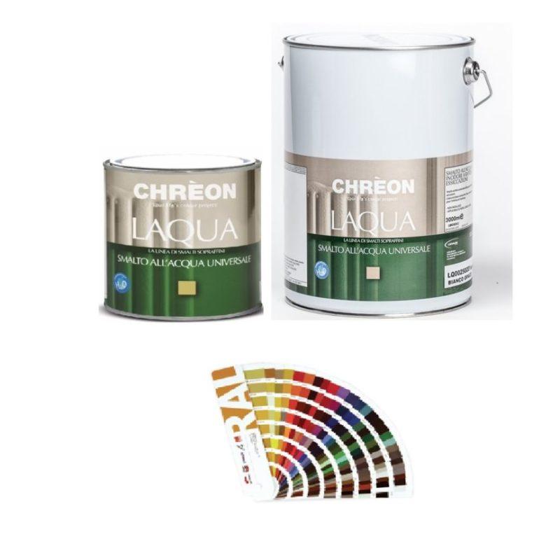 Gli interni della casa possono cambiare in base ai colori delle vernici, e dalle tabelle colori è possibile scegliere le tonalità giusta per. Laqua Chreon Smalto All Acqua A Rapida Essicazione Colori Tabella Ral Completa 1000 9018 Colormarket E Ferramenta Emiliana