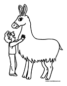 Cartoon Llama Coloring Pages Coloring Pages