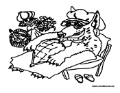 Fables, Fairy Tale, and Nursey Rhyme Coloring Pages
