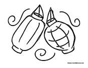 Chinese Paper Lantern Coloring Pages