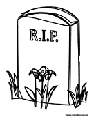 COLORING HALLOWEEN HEADSTONE PAGE « Free Coloring Pages