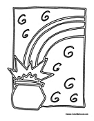 Pot of Gold Coloring Pages