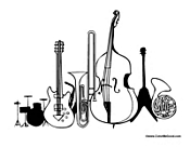 Band Instrument Coloring Pages