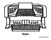 Organ Coloring Pages