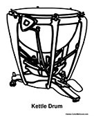 Percussion Coloring Pages