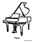 Piano Coloring Pages