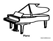Baby Grand Piano Floor Plan Sketch Coloring Page