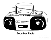 Radio Coloring Coloring Pages