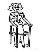 Special Needs and Disabilities Coloring Pages