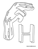 Sign Language Alphabet Coloring Pages