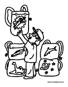 Boy Student Coloring Pages