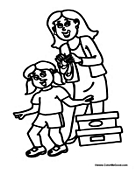 Girl Student Coloring Pages