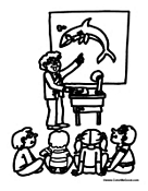 Teacher, Teaching, and Student Coloring Pages