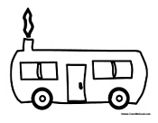 Camper Trailer Coloring Pages Sketch Coloring Page