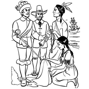 Jamestown Settlement Coloring Pages Sketch Coloring Page