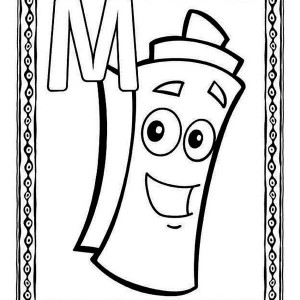 Bubble Letter M Coloring Page: Bubble Letter M Coloring