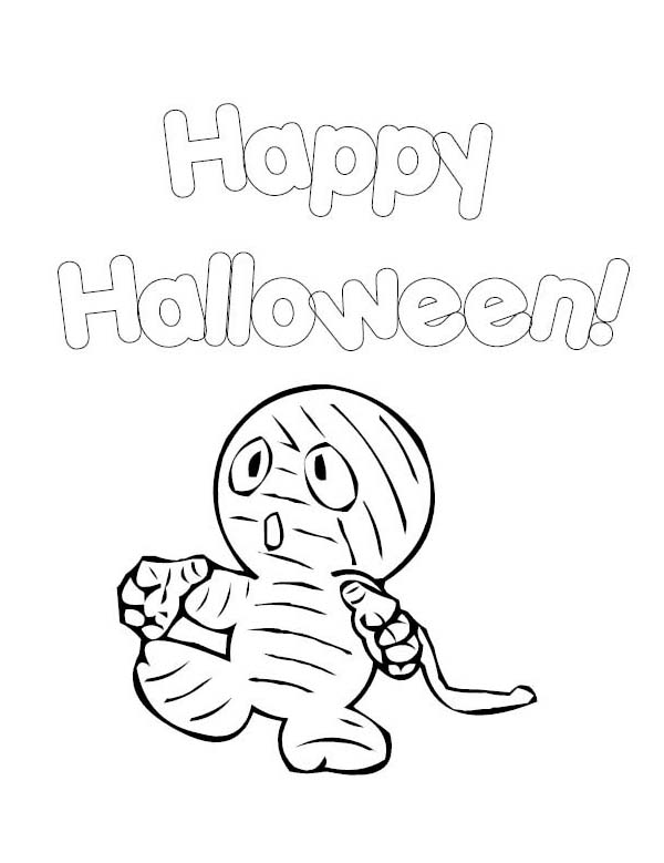 Little Cute baby Mummy Free Coloring Page: Little Cute