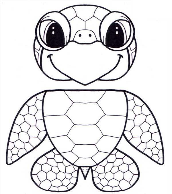 Puppet Honu Sea Turtle Free Coloring Sheet: Puppet Honu