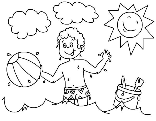 Free Boy Playing Soccer Coloring Pages