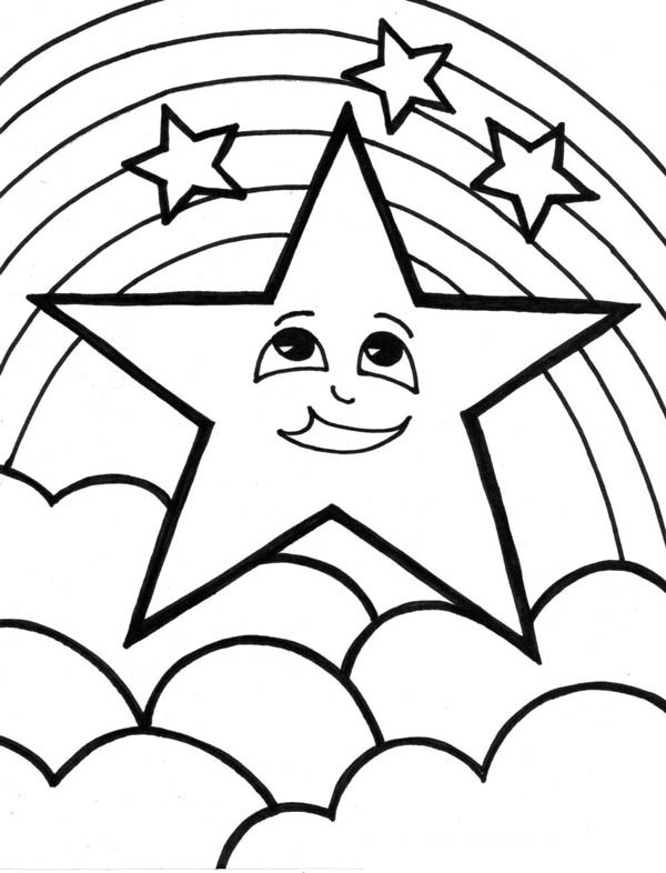 A Cute Start and the Rainbow Coloring Page: A Cute Start