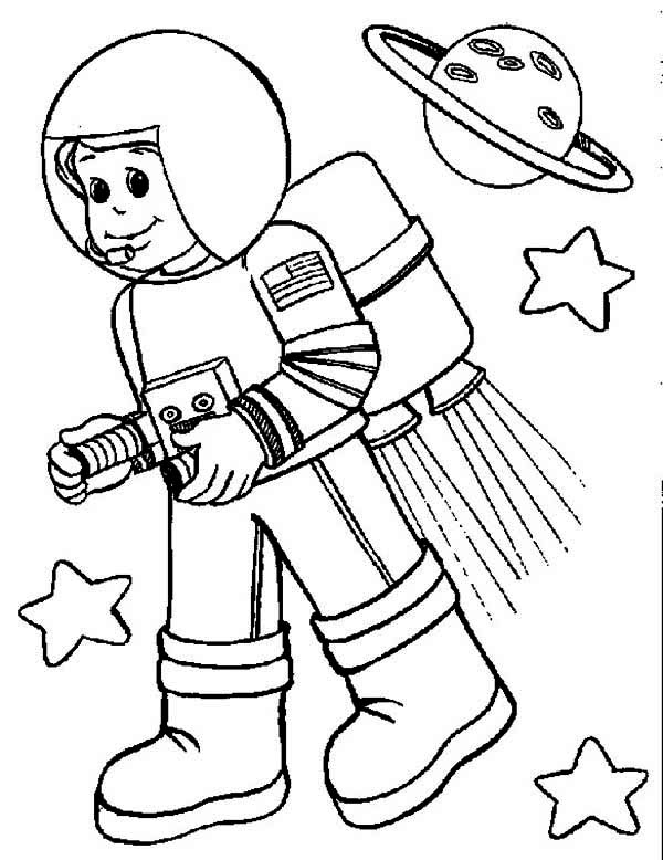 Astronaut Color by Number Pages for Preschool (page 2
