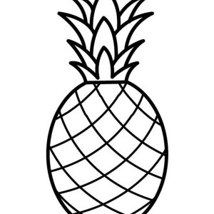 Draw the Pineapple Dotted Sheet Coloring Page: Draw the