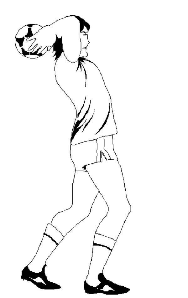 A Player Doing A Throw In Soccer Coloring Page Download