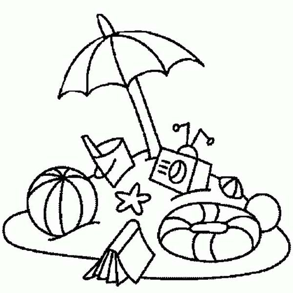 Vacation Coloring Coloring Pages