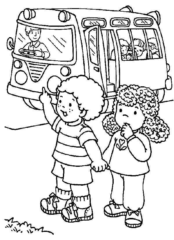 Two Students Stopping the School Bus on First Day of