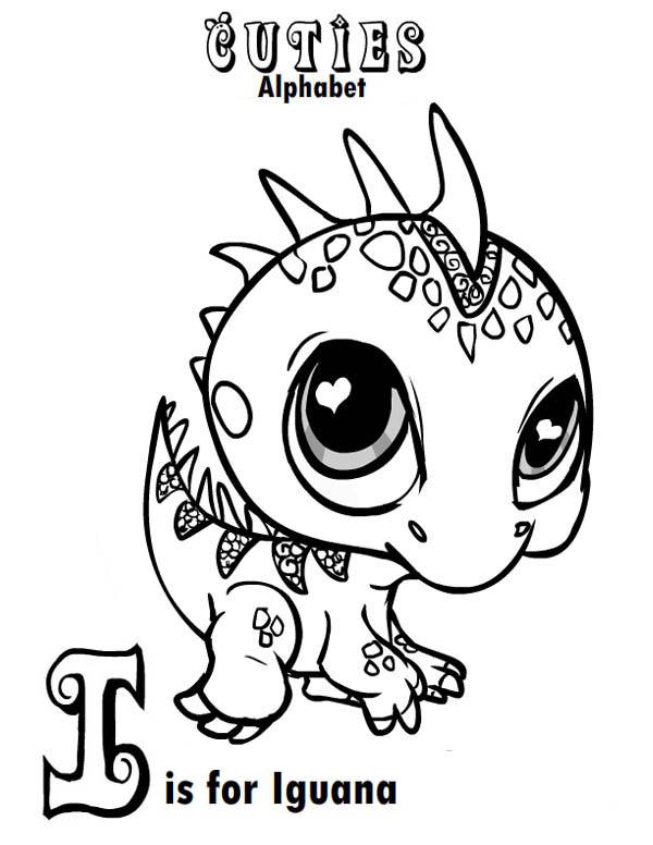 little iguana toys coloring page: little-iguana-toys