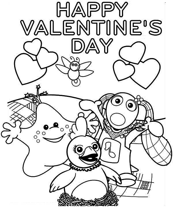 A Cheerful Valentine's Day Party Coloring Page: A Cheerful