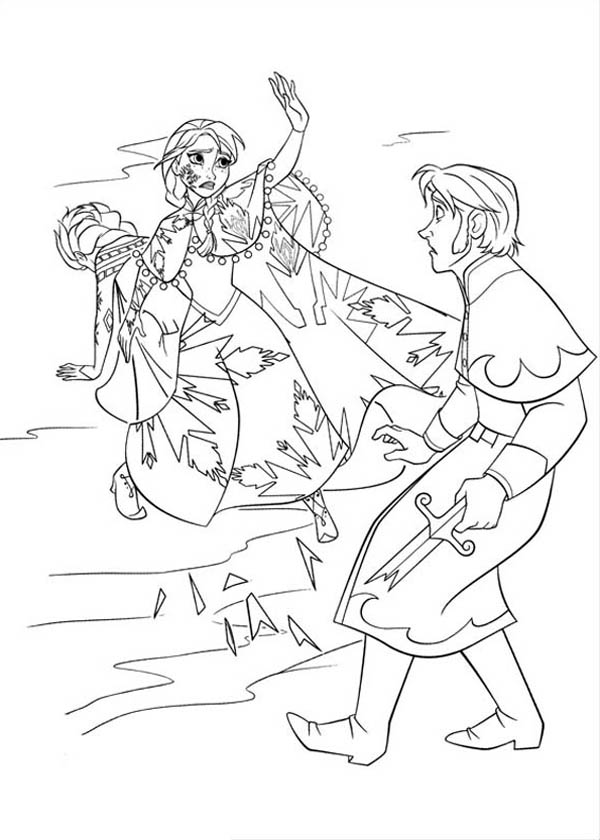 Anna Protecting Elsa from the Duke of Weseltons Thugs