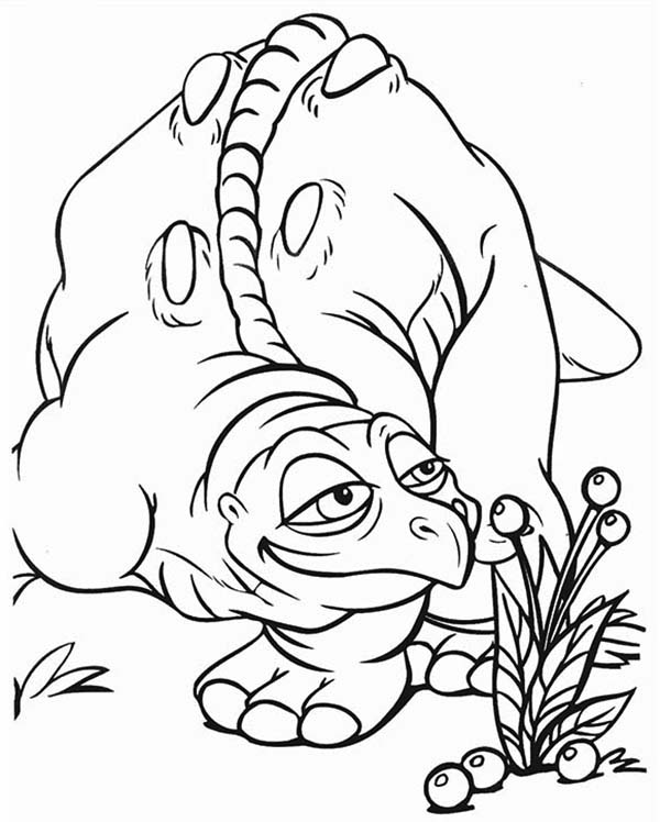 Cera Father Land Before Time Family Coloring Page