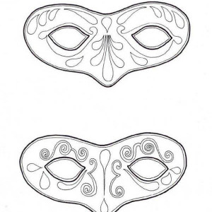 Comedy Tragedy Mask Coloring Coloring Pages