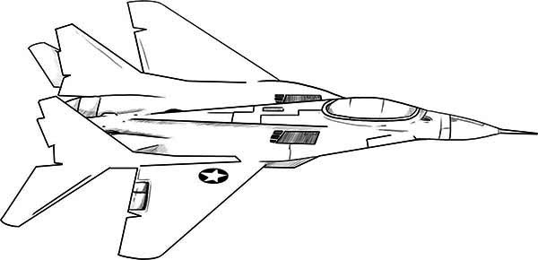 Airplane F18 Jet Fighter Coloring Page Jpg