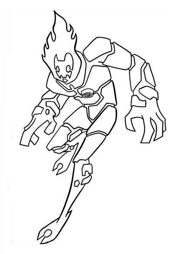Heatblast, One of the Earliest Alien Form in Ben 10