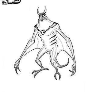XLR8 from Ben 10 Omniverse Coloring Page: XLR8 from Ben 10