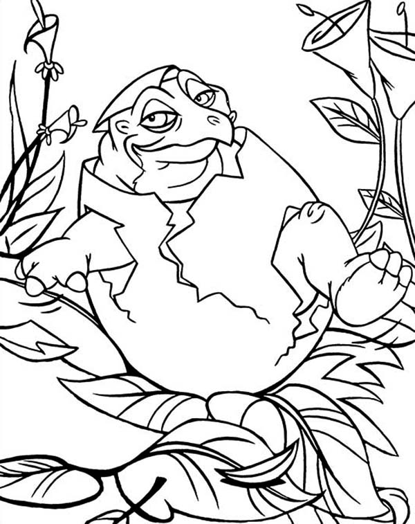 Free coloring pages of spike the dragon
