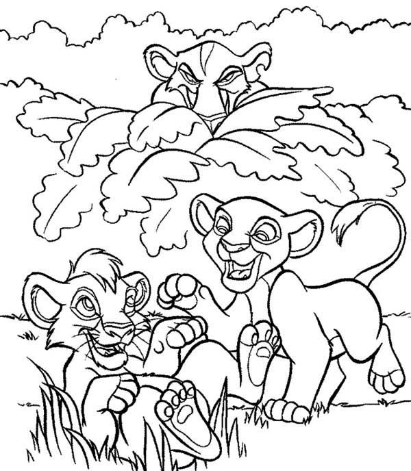 Christmas Coloring Pages Simba And Nala. Christmas. Best