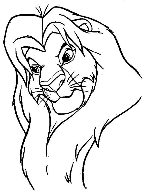 Mufasa And Simba Coloring Pages Coloring Pages