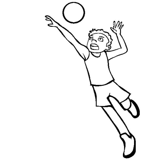 a boy doing a spike volleyball coloring page: a-boy-doing