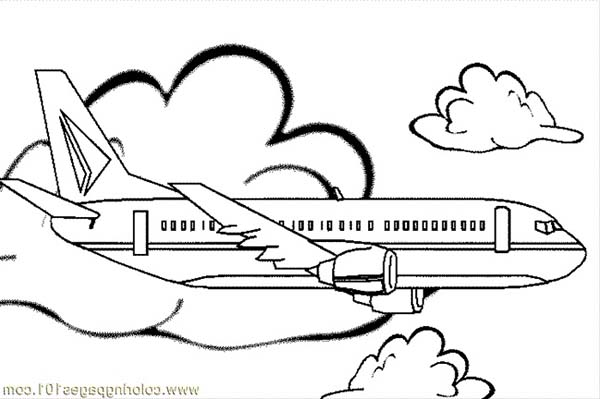 jumbo jet coloring page Gallery