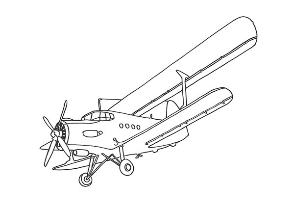 old passenger airplane coloring page: old-passenger